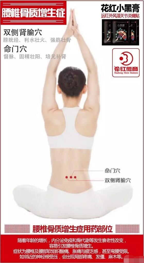腰椎骨质增生贴法